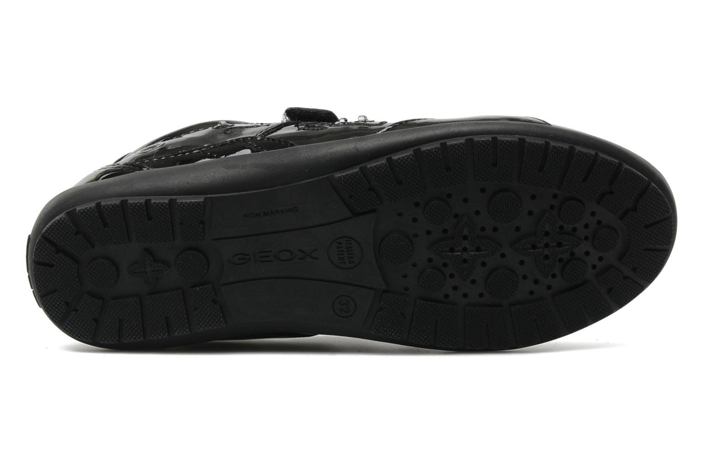 Sneaker Geox J BON BON D schwarz ansicht von oben