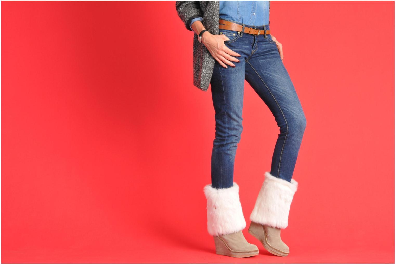 Stiefeletten & Boots Serafini Etoile Miranda Go weiß ansicht von unten / tasche getragen