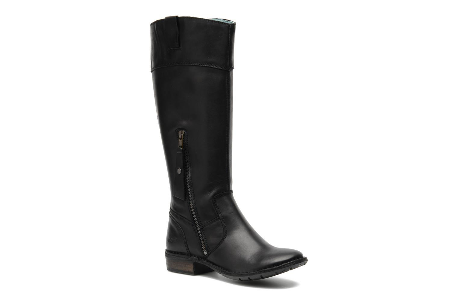 Marques Chaussure femme Kickers femme GROOVE UP Noir (8)