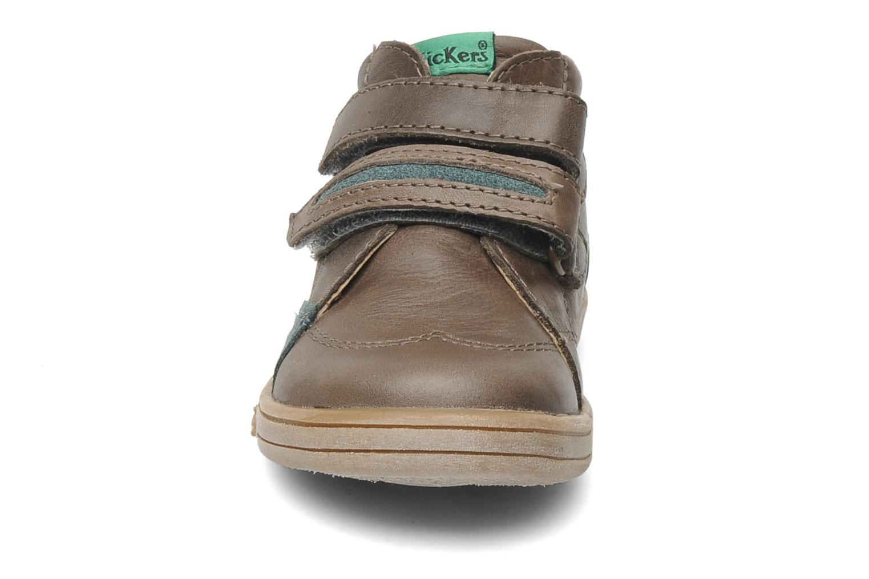 Skor med kardborrband Kickers Taxi Brun bild av skorna på