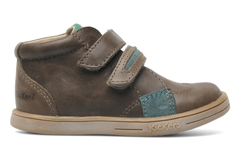 Chaussures à scratch Kickers Taxi Marron vue derrière