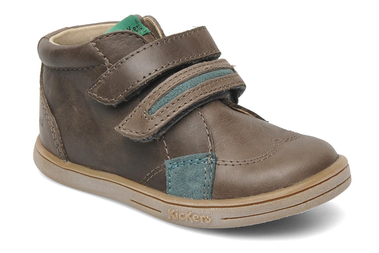 Chaussures à scratch Kickers Taxi Marron vue détail/paire