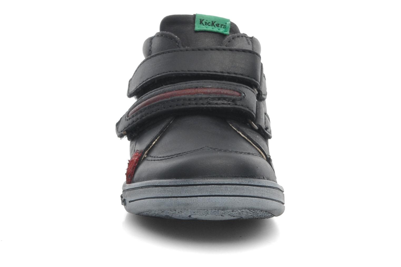 Skor med kardborrband Kickers Taxi Svart bild av skorna på