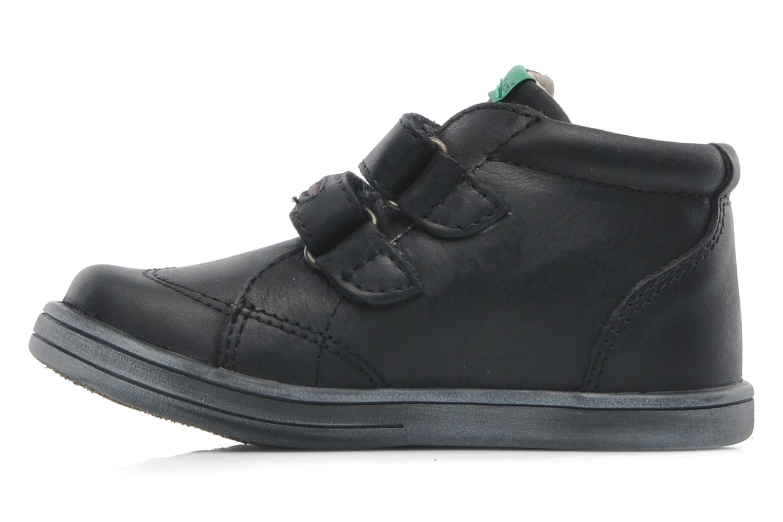 Schoenen met klitteband Kickers Taxi Zwart voorkant