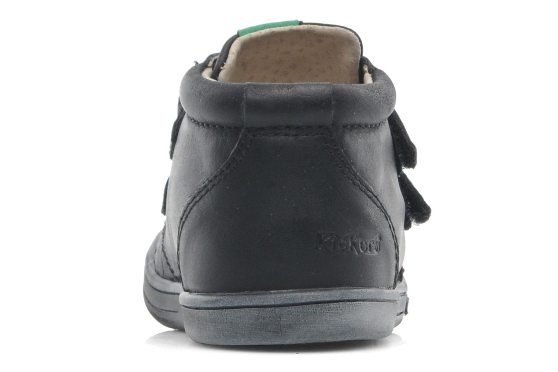 Schoenen met klitteband Kickers Taxi Zwart rechts