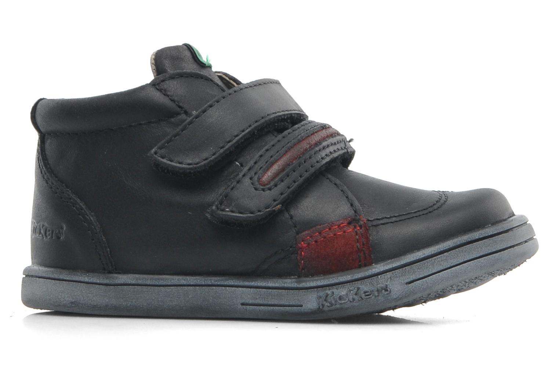 Zapatos con velcro Kickers Taxi Negro vistra trasera