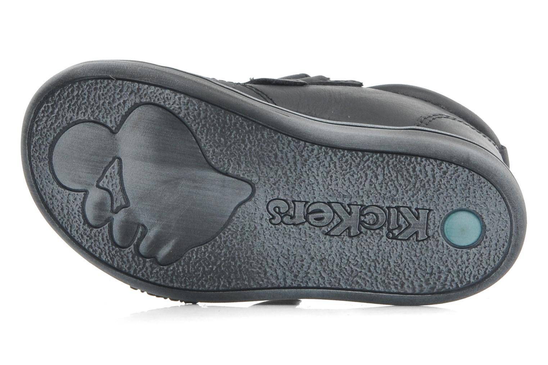 Zapatos con velcro Kickers Taxi Negro vista de arriba