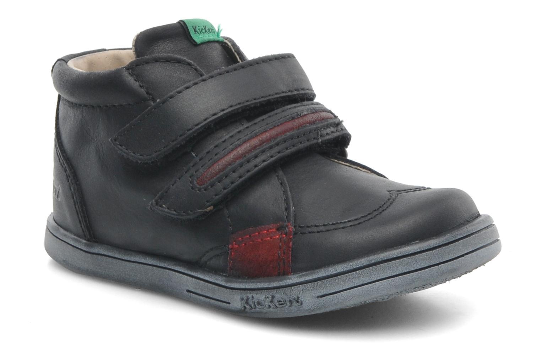 Schoenen met klitteband Kickers Taxi Zwart detail