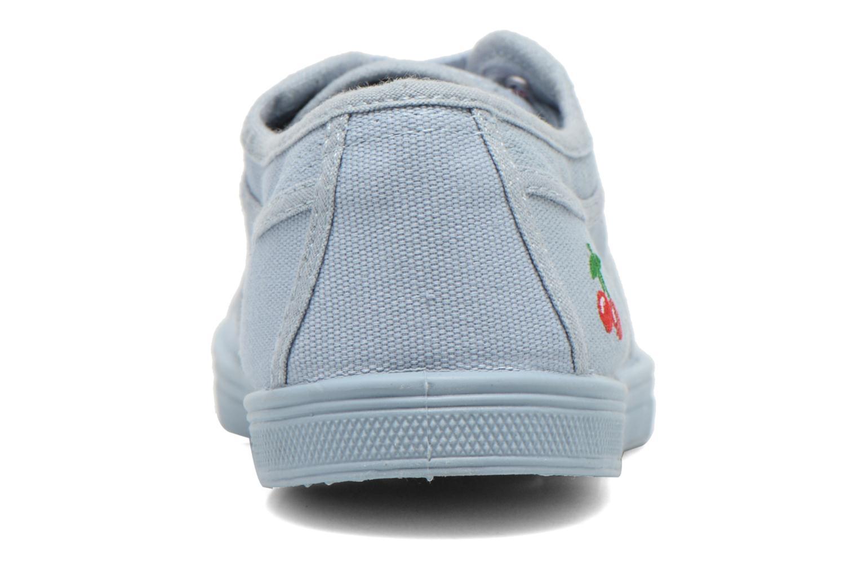 Sneakers Le temps des cerises Basic 02 Mono Azzurro immagine destra