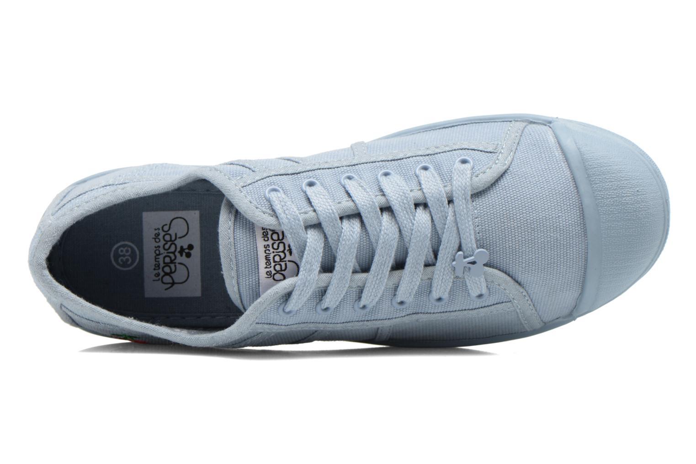 Sneakers Le temps des cerises Basic 02 Mono Azzurro immagine sinistra