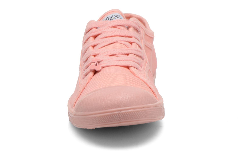 Sneakers Le temps des cerises Basic 02 Mono Rosa modello indossato