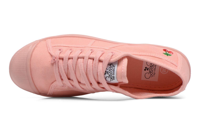 Sneakers Le temps des cerises Basic 02 Mono Rosa immagine sinistra