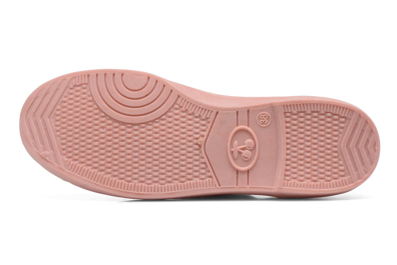 Sneakers Le temps des cerises Basic 02 Mono Rosa immagine dall'alto