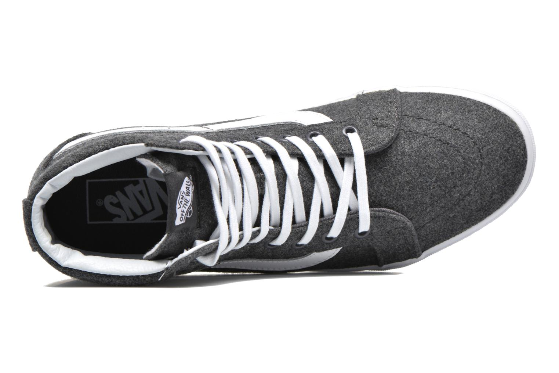 Sneaker Vans Sk8-Hi Reissue grau ansicht von links