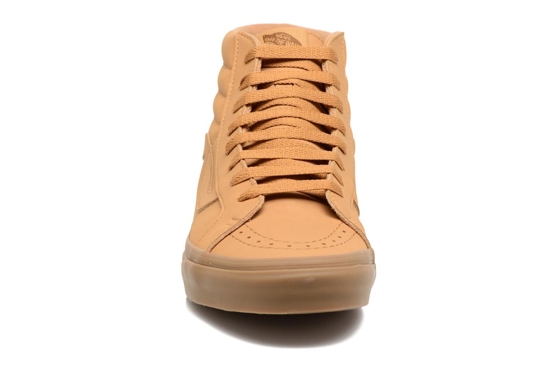 Sneaker Vans Sk8-Hi Reissue beige schuhe getragen