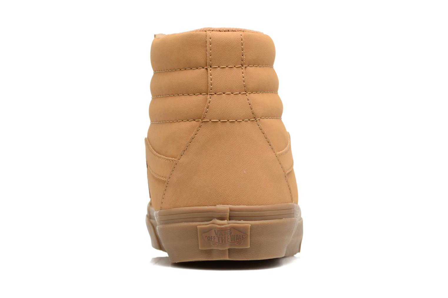 Trainers Vans Sk8-Hi Reissue Beige view from the right