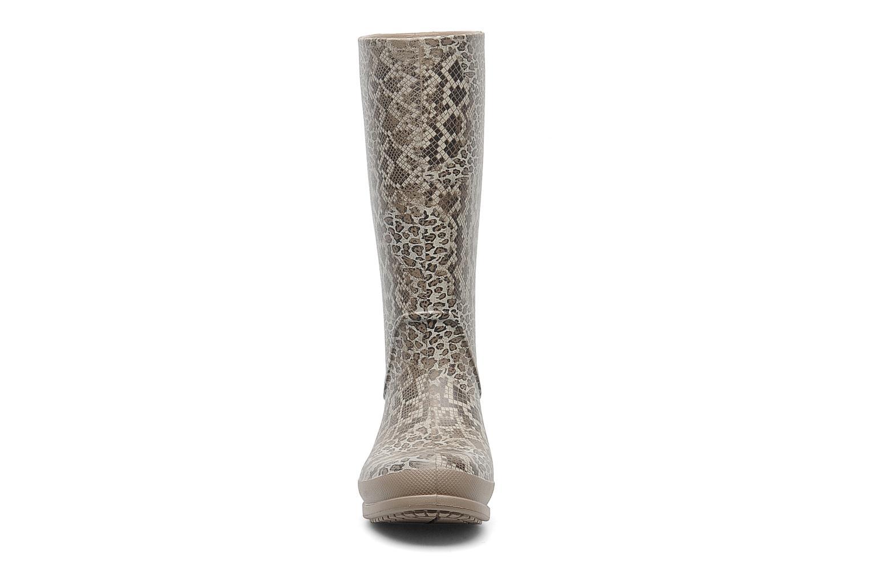 Bottes Crocs Wellie Leopard Print Boot Beige vue portées chaussures