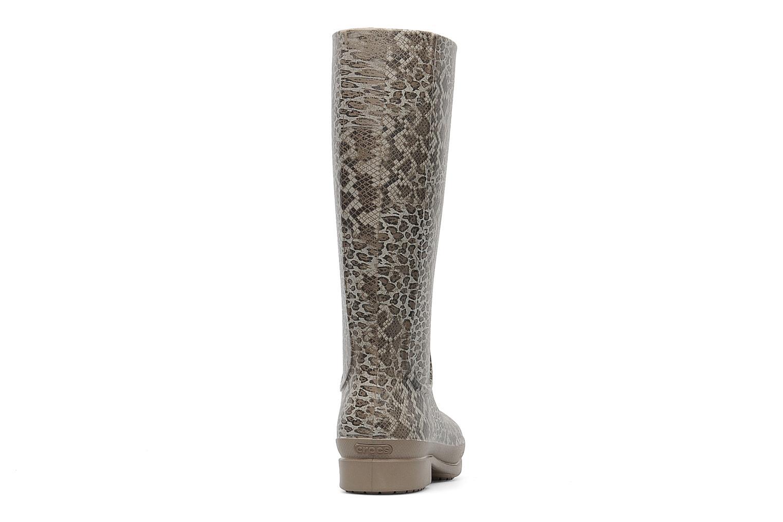 Bottes Crocs Wellie Leopard Print Boot Beige vue droite