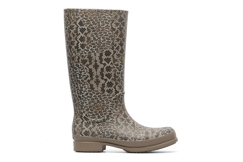 Bottes Crocs Wellie Leopard Print Boot Beige vue derrière