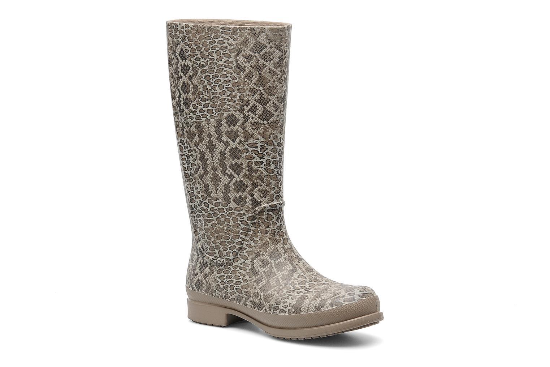 Bottes Crocs Wellie Leopard Print Boot Beige vue détail/paire