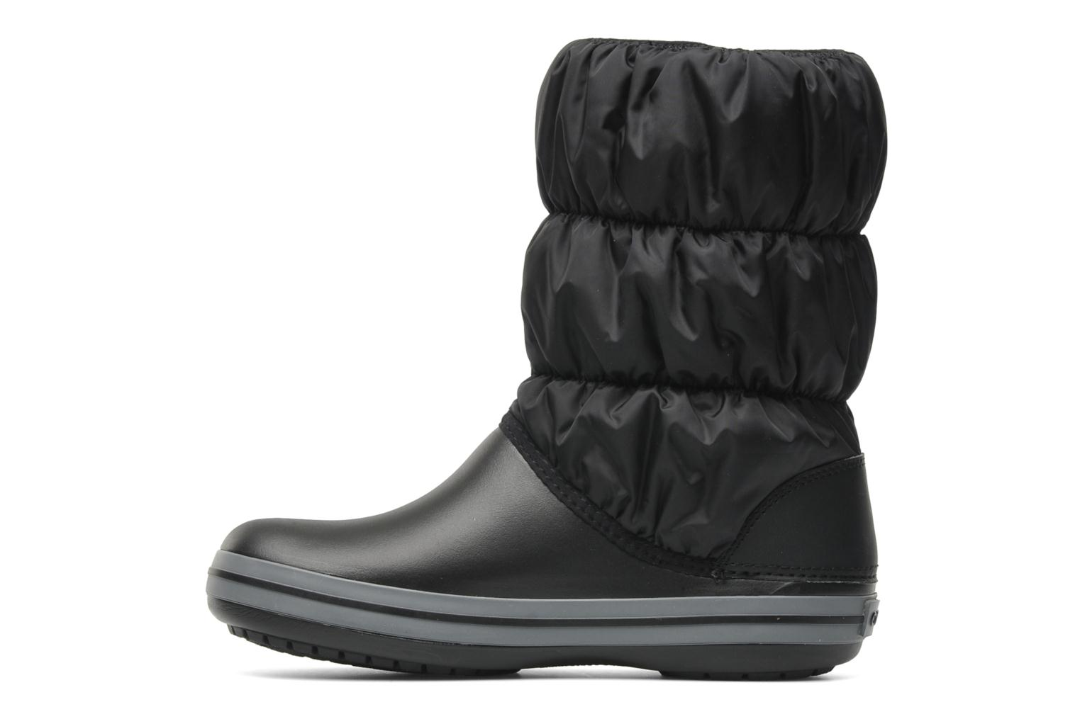 Botines  Crocs Winter Puff Boot Negro vista de frente