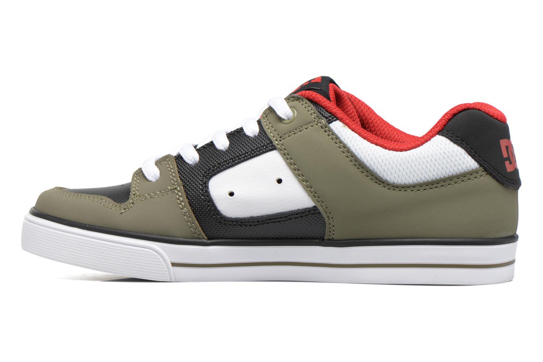 Baskets DC Shoes PURE B Vert vue face