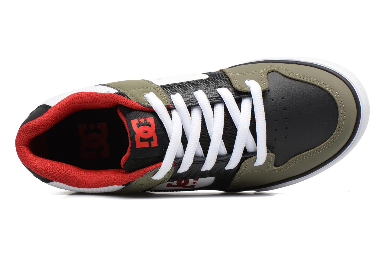 Baskets DC Shoes PURE B Vert vue gauche