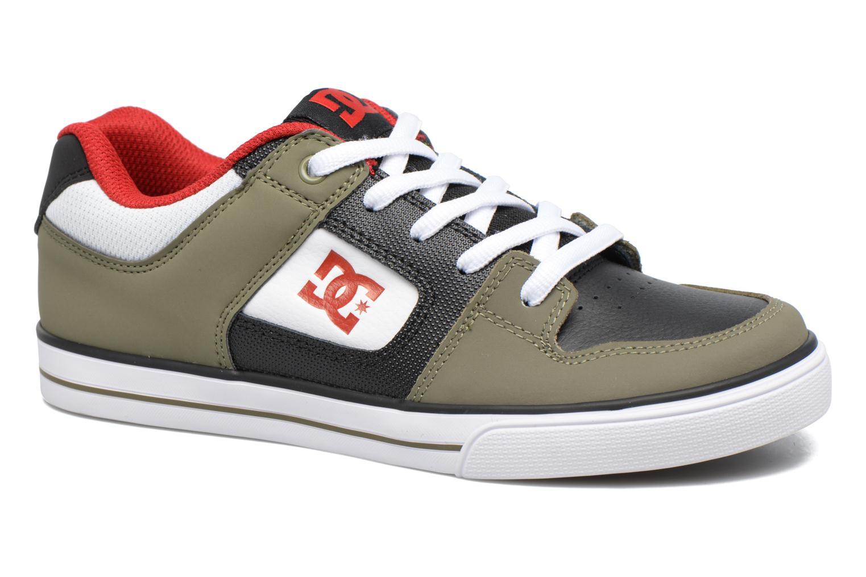 Baskets DC Shoes PURE B Vert vue détail/paire