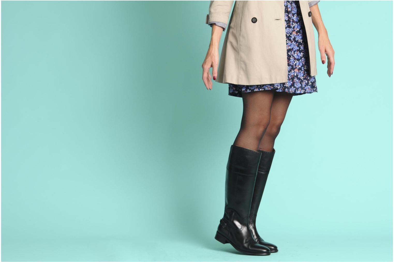 Stiefel Georgia Rose Amou schwarz ansicht von unten / tasche getragen