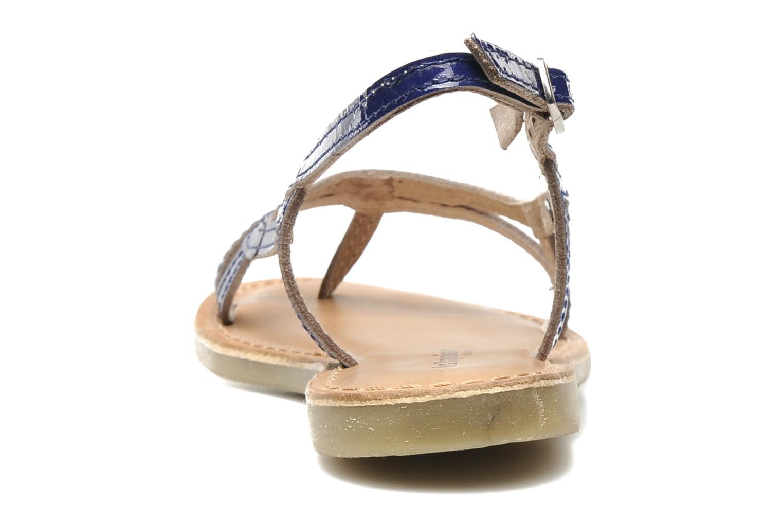 Sandals Les Tropéziennes par M Belarbi ISATIS E Blue view from the right