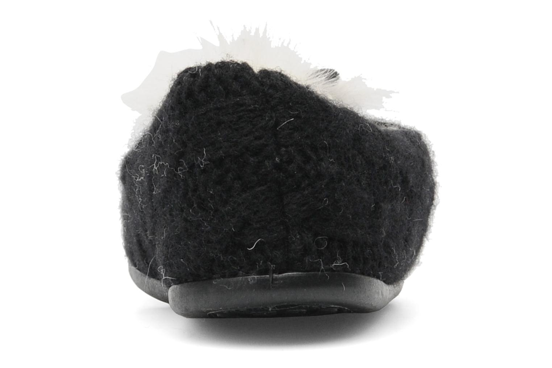 Pantuflas Rondinaud Tarsac Negro vista lateral derecha
