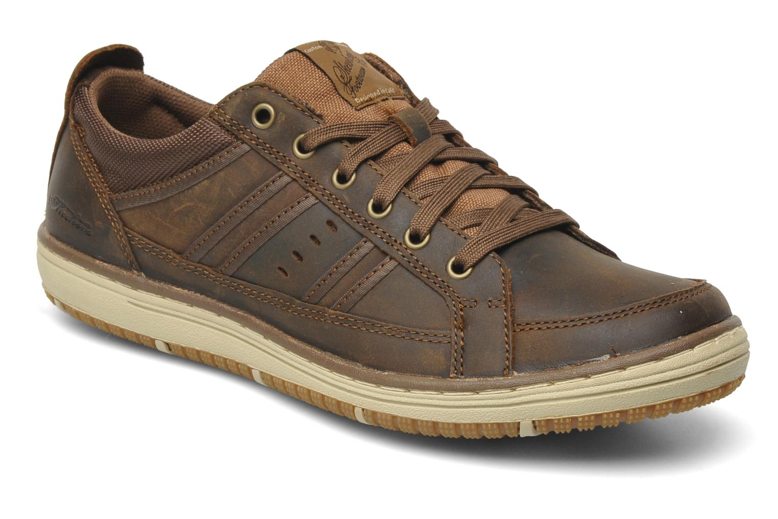 Trainers Skechers Irvin Hamal 63418 Brown detailed view/ Pair view