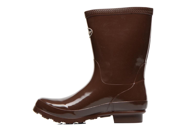 Helios Mid Rain Boots Dark Brown