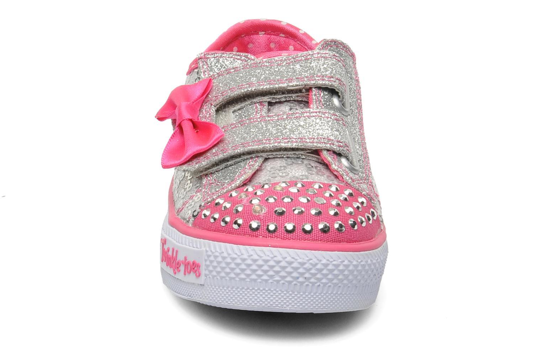 Baskets Skechers Shuffles Sweet Steps Argent vue portées chaussures