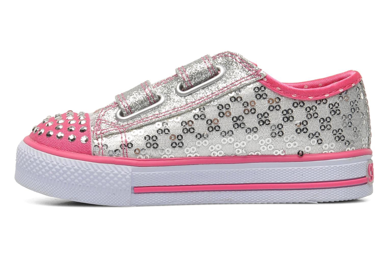 Sneaker Skechers Shuffles Sweet Steps silber ansicht von vorne