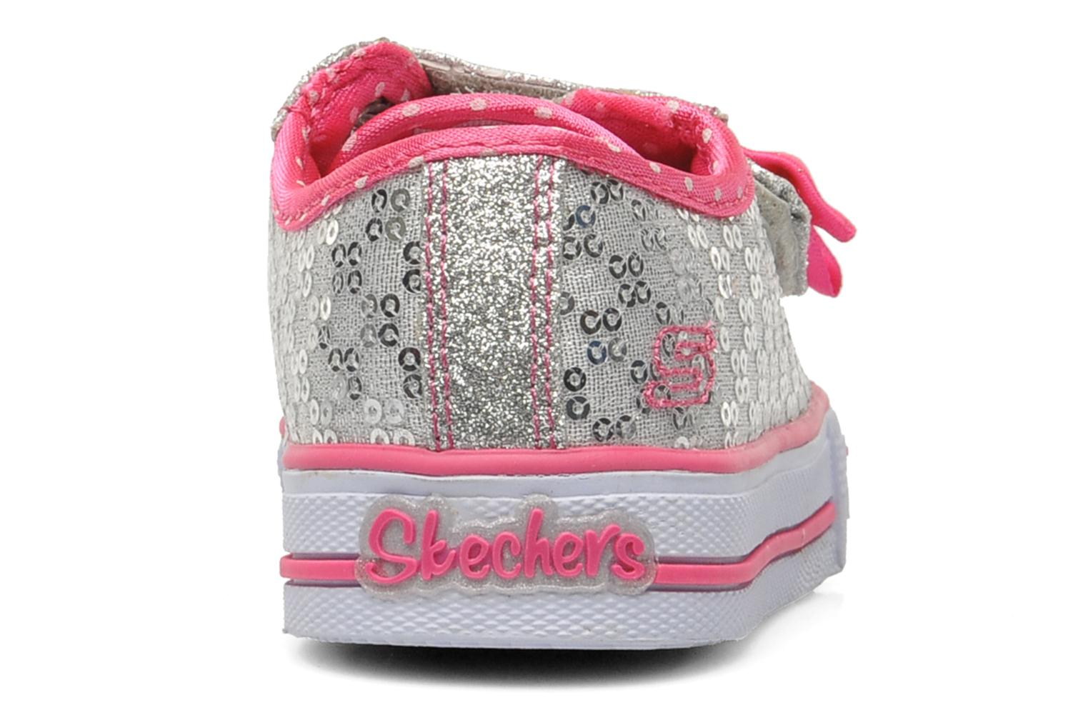 Trainers Skechers Shuffles Sweet Steps Silver view from the right