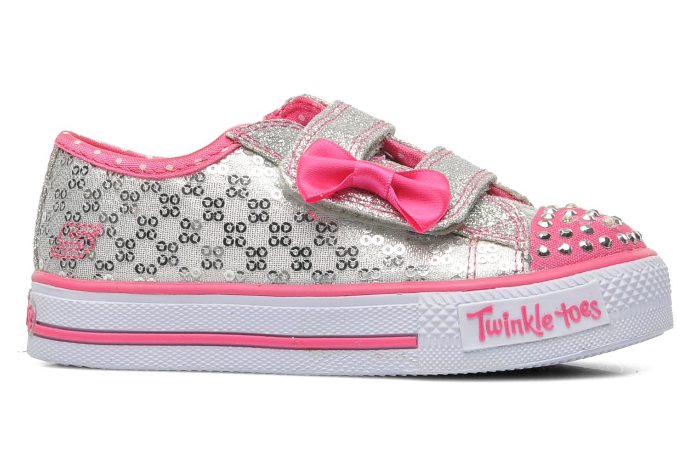Sneaker Skechers Shuffles Sweet Steps silber ansicht von hinten