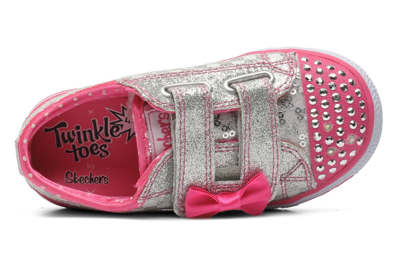 Sneaker Skechers Shuffles Sweet Steps silber ansicht von links