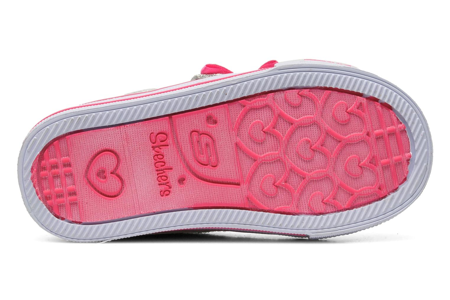 Trainers Skechers Shuffles Sweet Steps Silver view from above