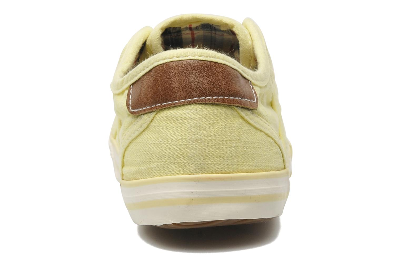Baskets Mustang shoes Pitaya Jaune vue droite