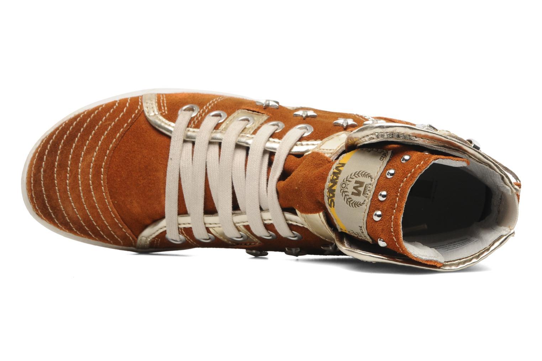 Sneaker Manas Morikoi braun ansicht von links