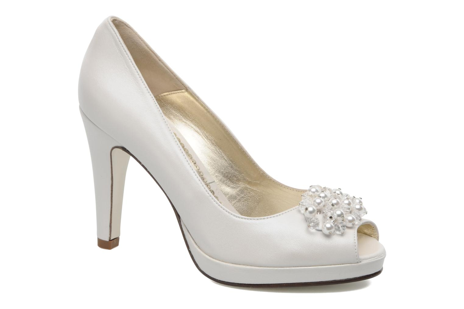 High heels Georgia Rose Chagrelots White detailed view/ Pair view