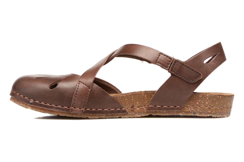 Sandals Art Creta 449 Brown front view