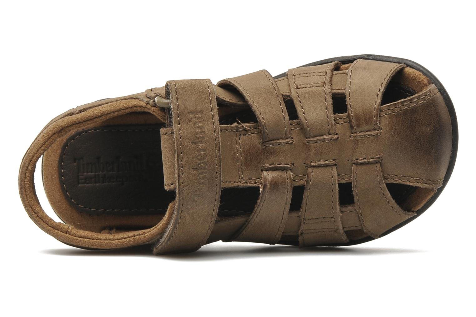 Sandals Timberland EK Rye Harbor Leather Fisherman Brown view from the left
