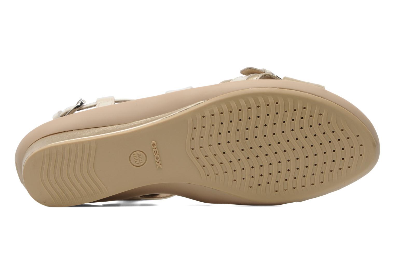 Sandales et nu-pieds Geox D Emelyne D Beige vue haut