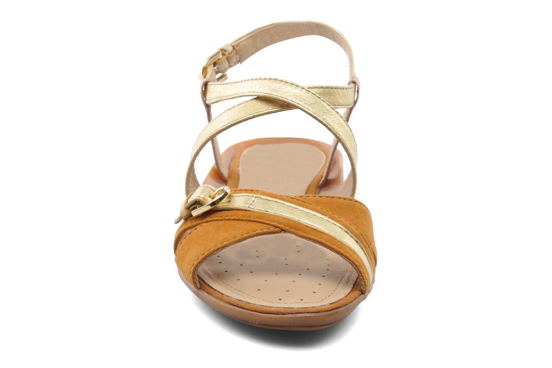 Sandals Geox D Emelyne D Brown model view