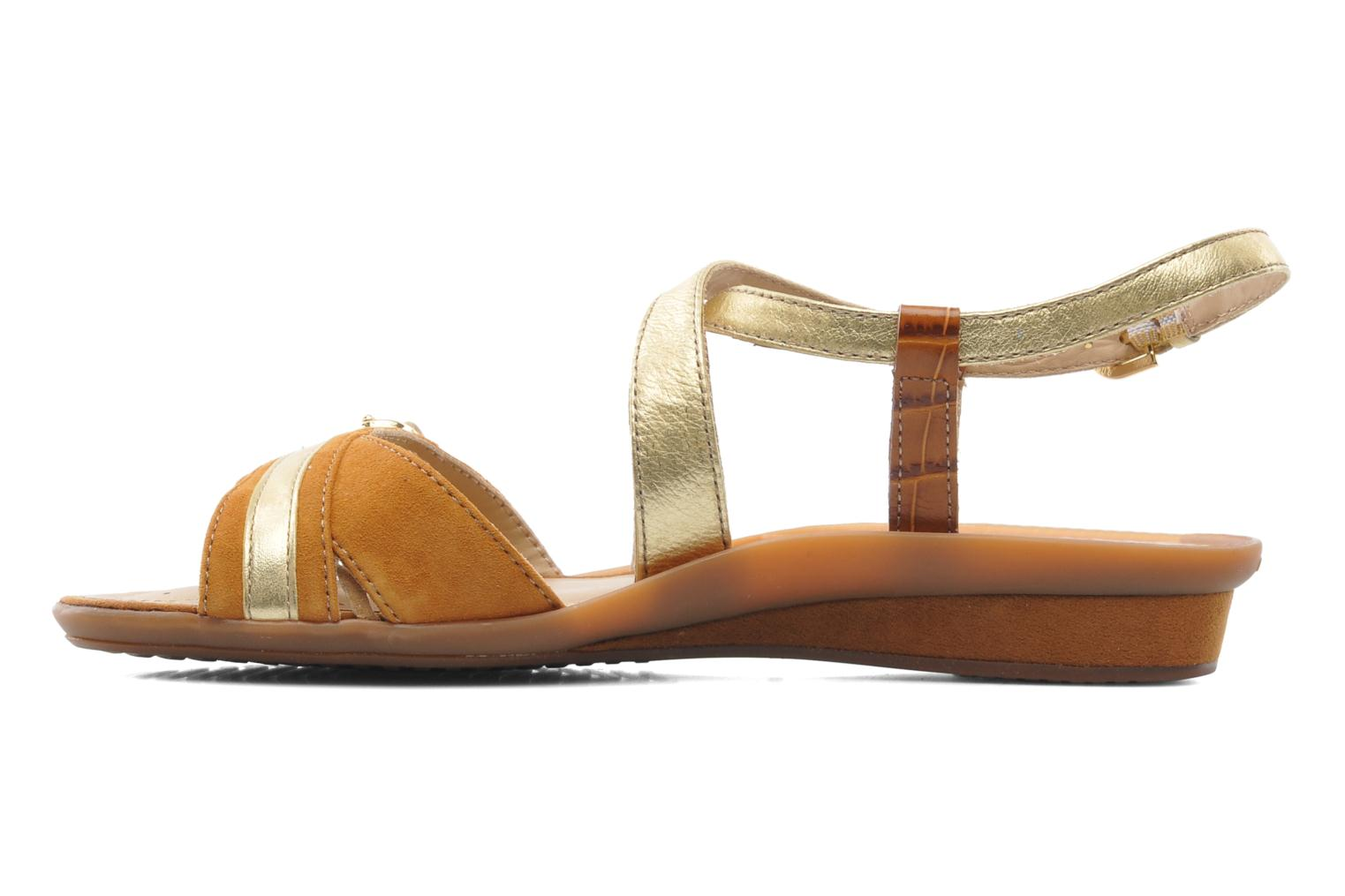 Sandals Geox D Emelyne D Brown front view