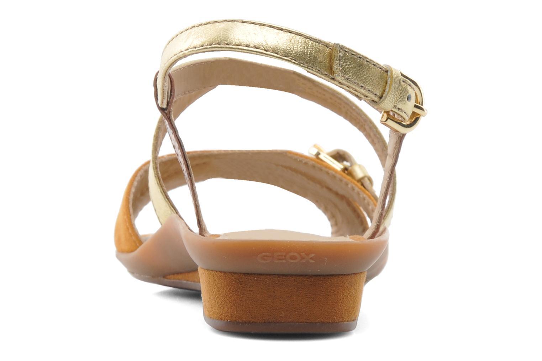 Sandales et nu-pieds Geox D Emelyne D Marron vue droite