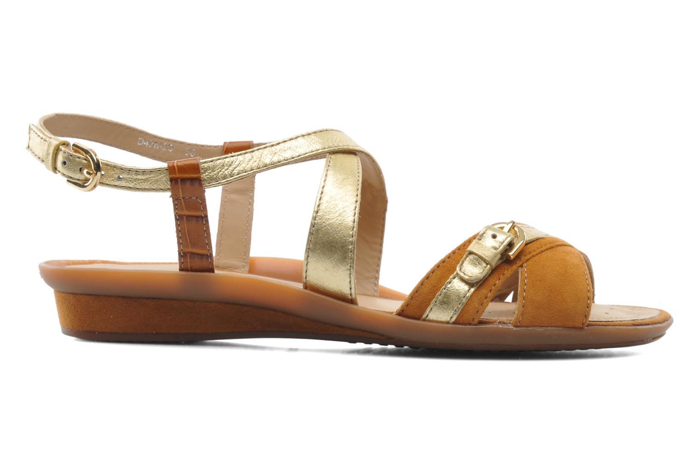 Sandales et nu-pieds Geox D Emelyne D Marron vue derrière