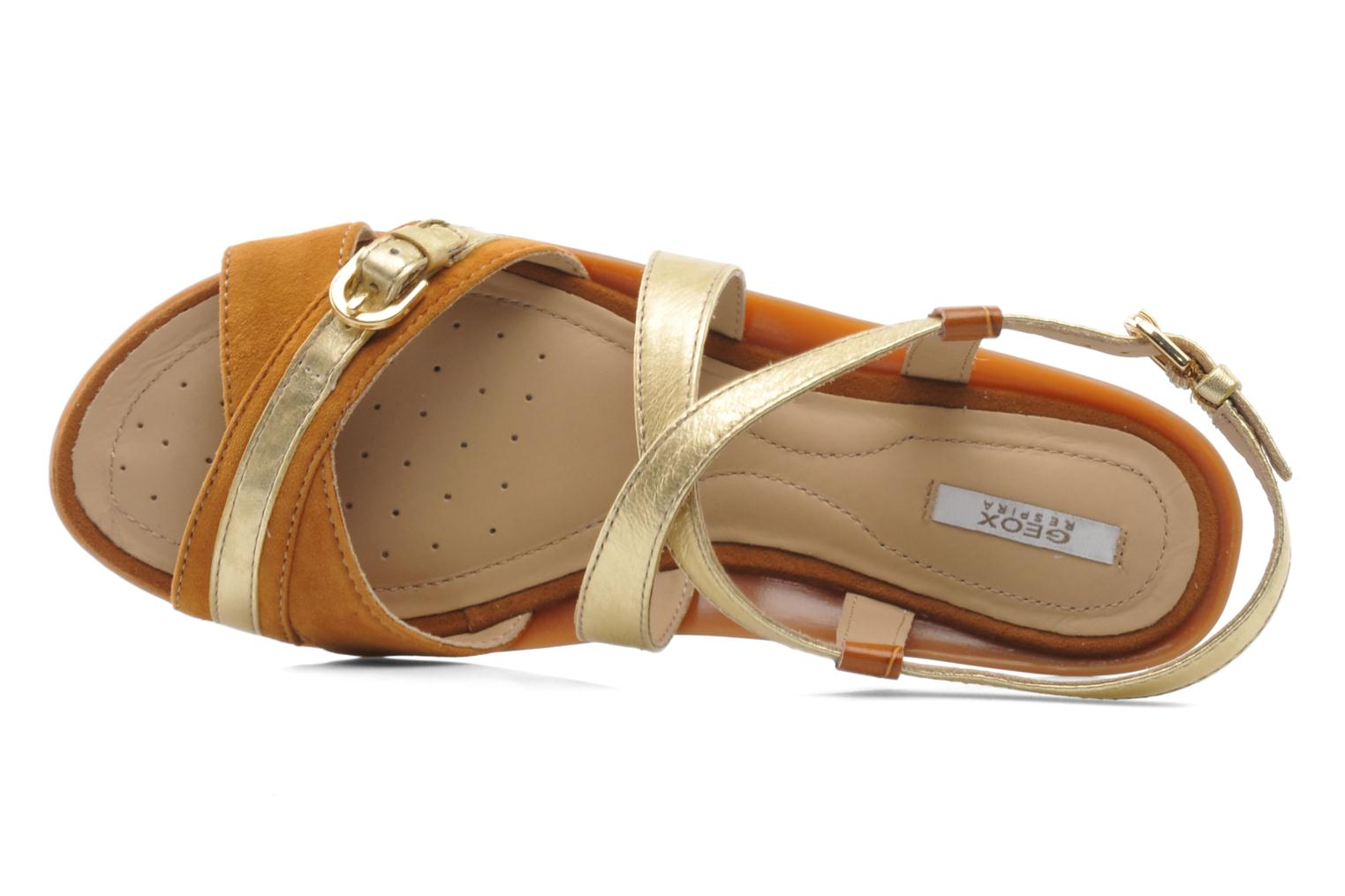 Sandals Geox D Emelyne D Brown view from the left